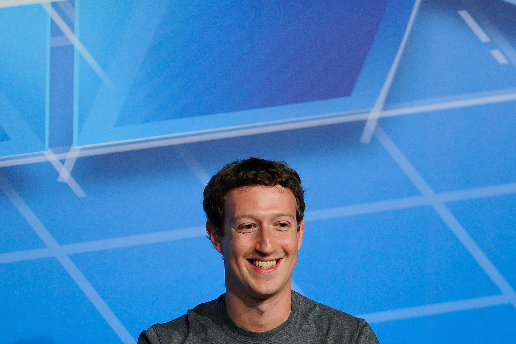 Facebook CEO Mark Zuckerberg delivers a speech in the Mobile World Congress in Barcelona on Feb. 24, 2014