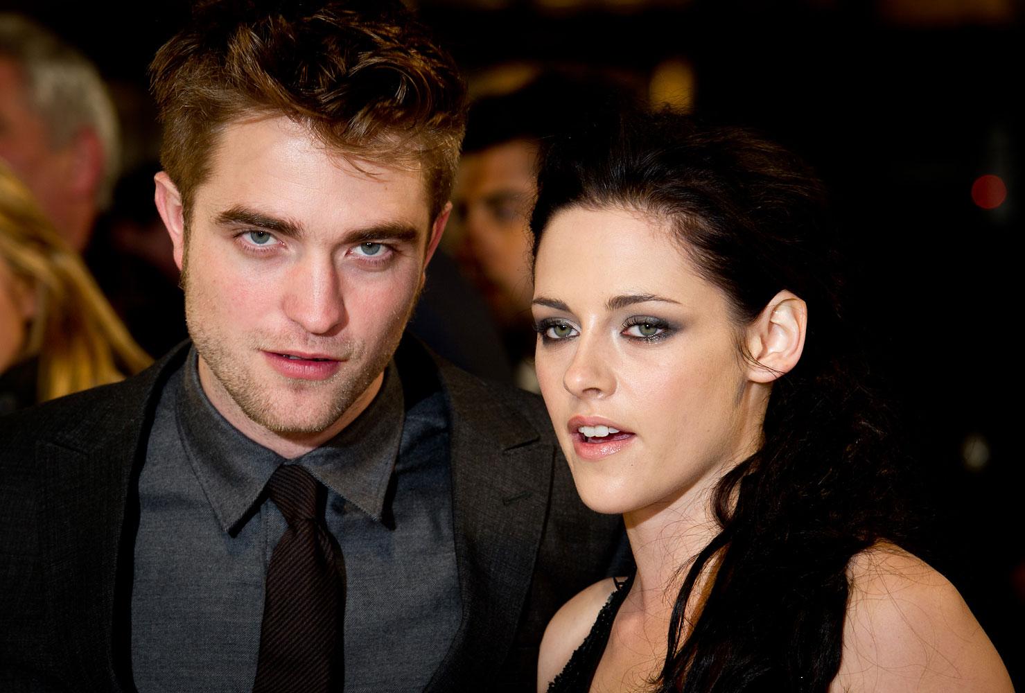 Robert Pattinson, Kristen Stewart attend the UK premiere of The Twilight Saga: Breaking Dawn Part 1 at Westfield Stratford City on Nov. 16, 2011 in London.