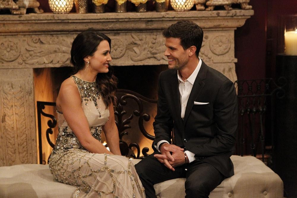 Andi Dorfman and Eric Hill in a scene from the season premiere of The Bachelorette
