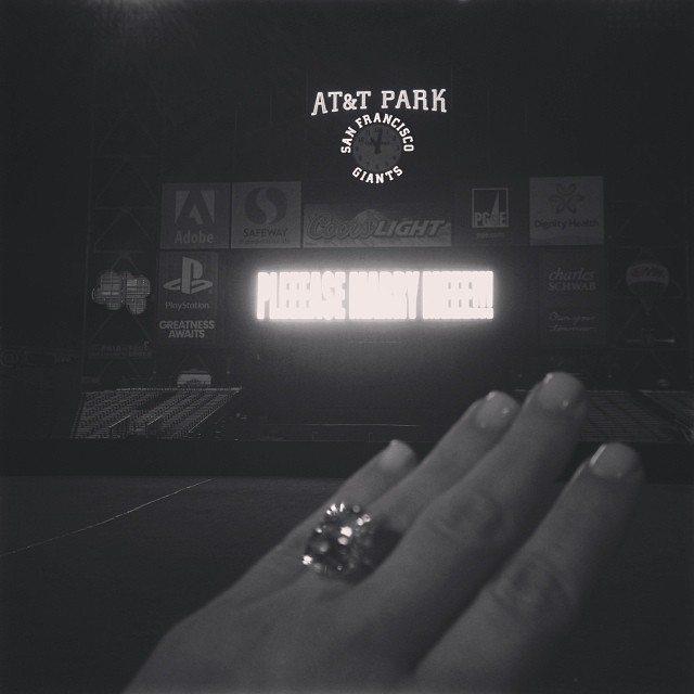 Kanye decided to take Beyonce's wise words to heart: he put a <i>very</i> large ring on it after an uber-elaborate surprise engagement at AT&amp;T Park in October as Kim's birthday surprise.