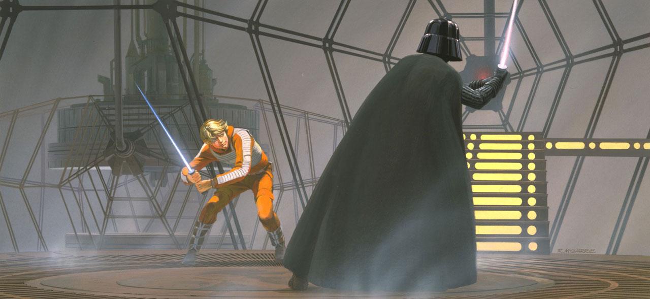 Luke versus Darth Vader