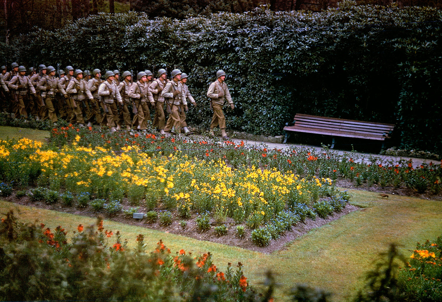 American troops in England before D-Day, May 1944.