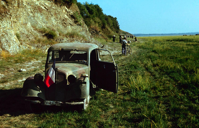 Along the coast of France, June 1944.