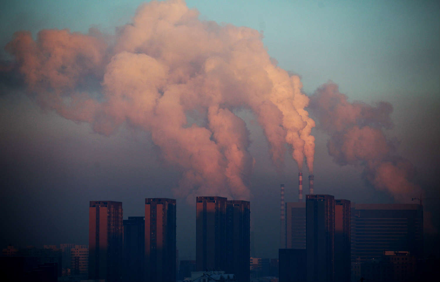 Coal plants like this one in China produce 40% of the world's electricity