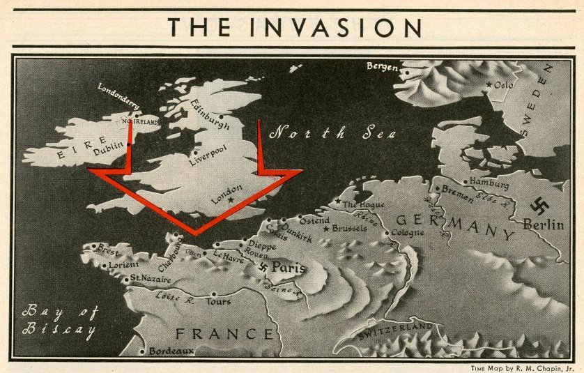 WWII Maps from TIME Magazine, June 1944