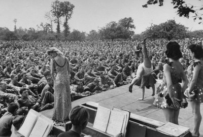 Show for the Troops After D-Day, 1944