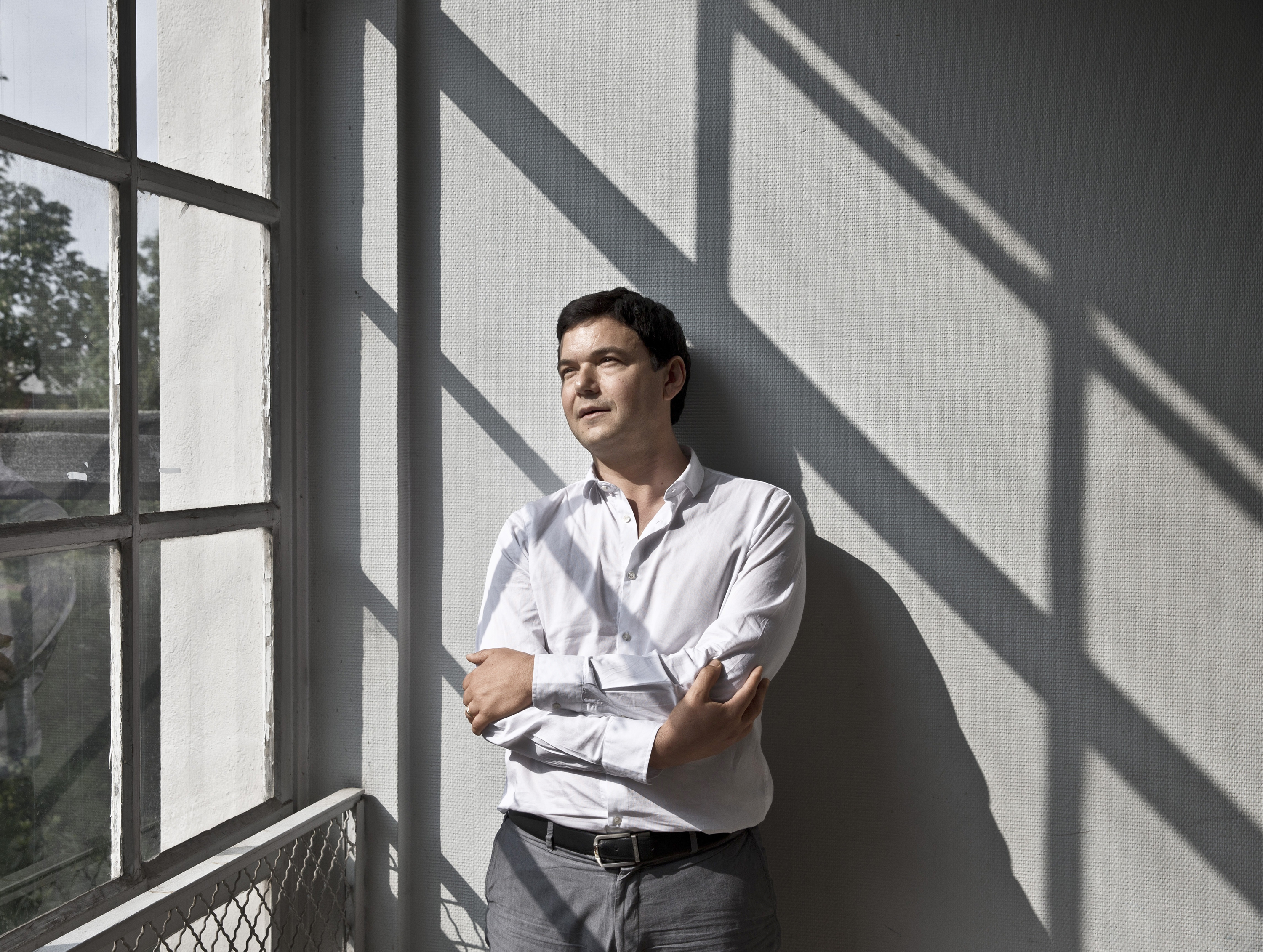 Le hot hand Author Thomas Piketty near his office in Paris
