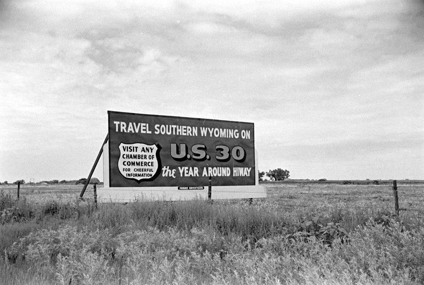 Route 30, Wyoming, USA, 1948.