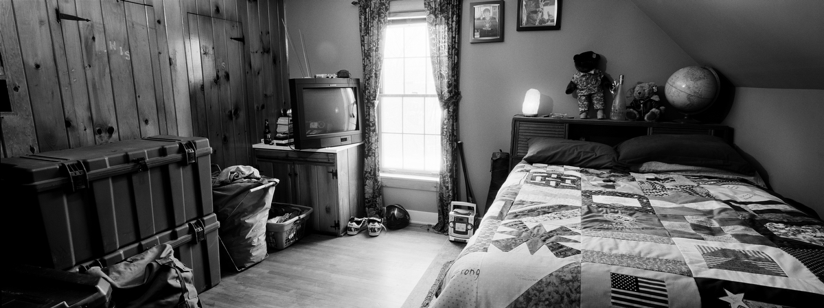 Army Pfc. Jack T. Sweet, 19, was killed by a roadside bomb on Feb. 8, 2008, in Jawwalah, Iraq. He was from Alexandria Bay, New York. His bedroom was photographed in Dec. 2009.