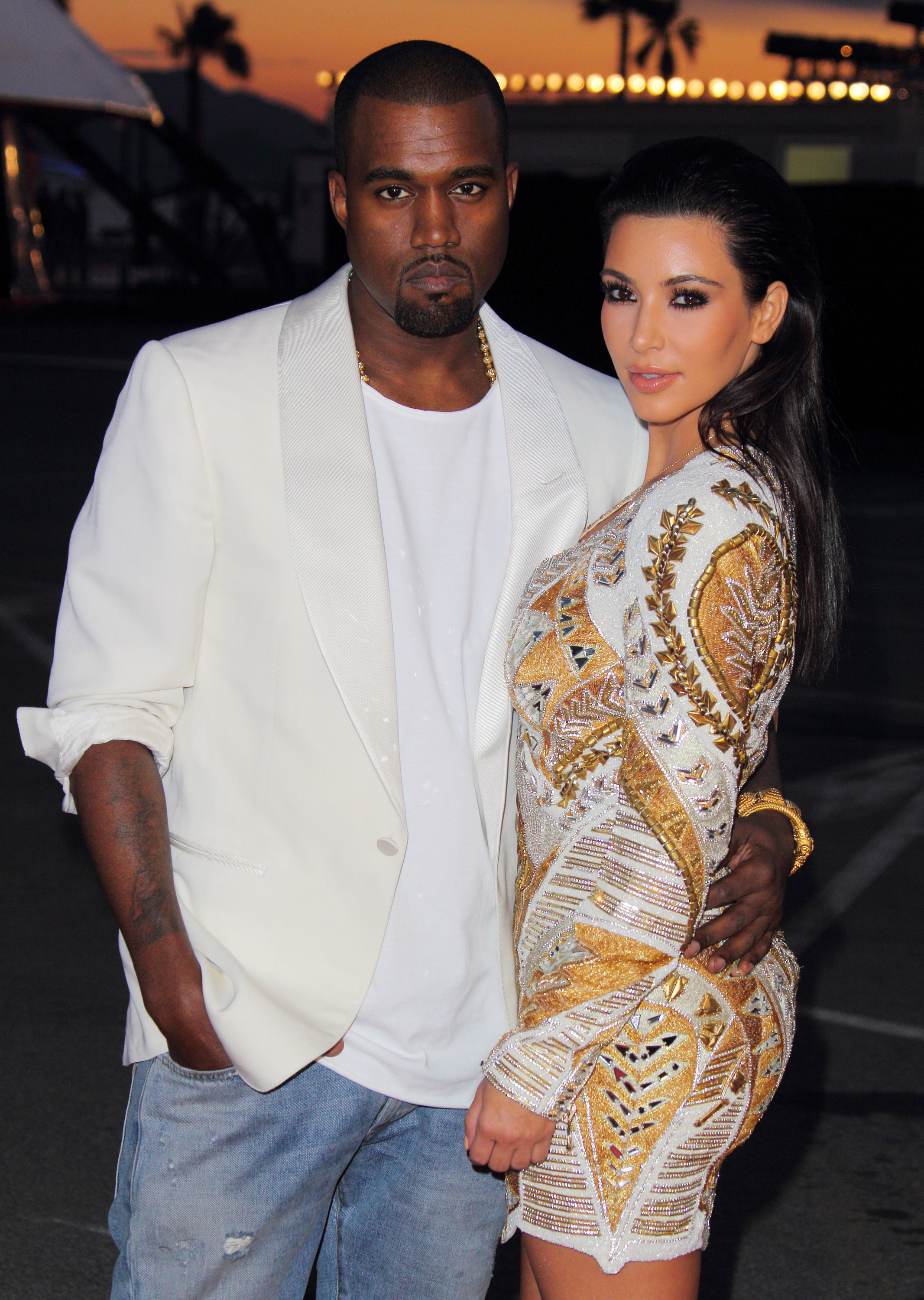 Kimye became an official romantic thing in April 2012—there had been rumors that they were sneaking around when Kim was still married to Kris Humphries, but no matter. In May the couple was photographed in Cannes before the premiere of the rapper's 30-minute short film <i>Cruel Summer.</i>