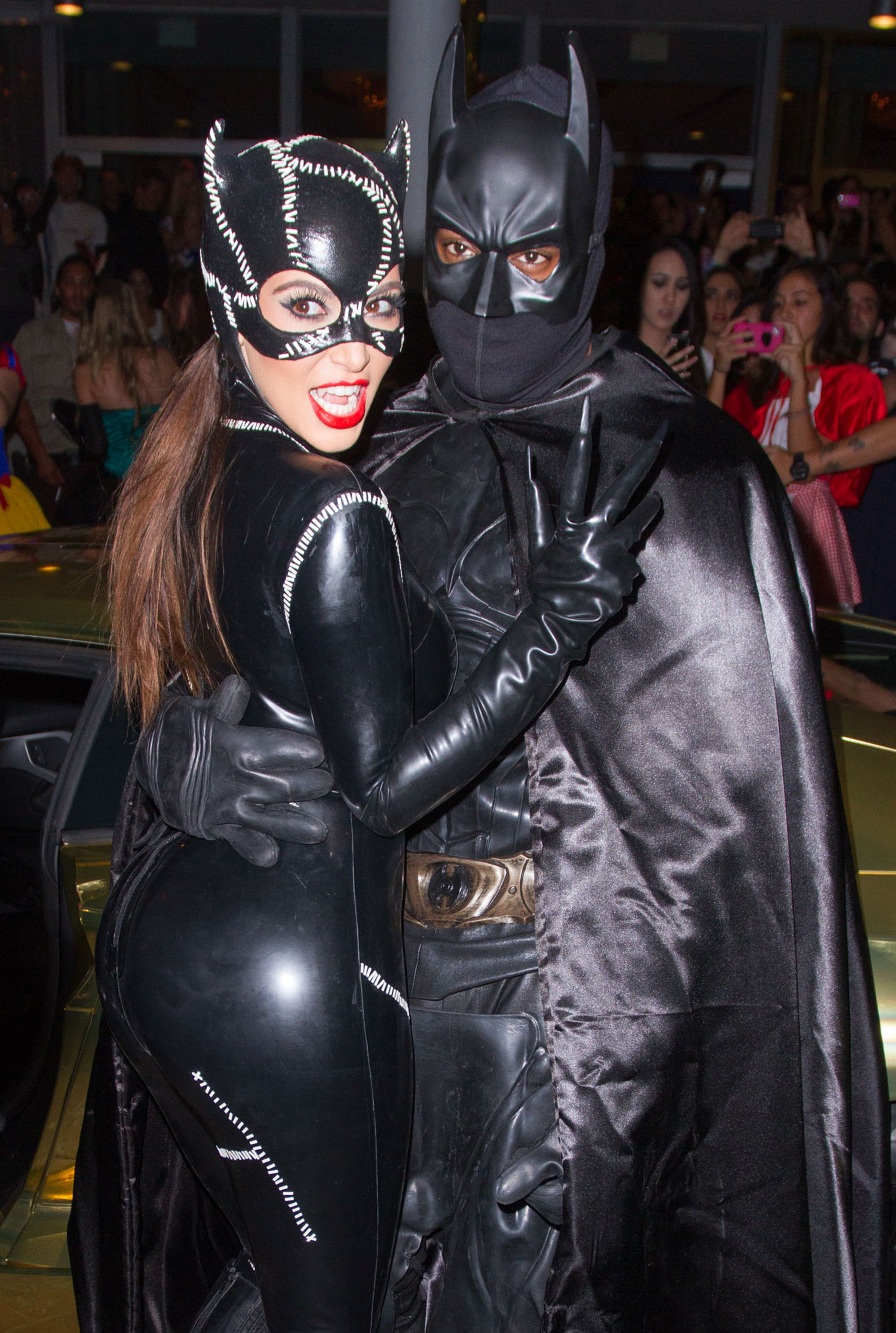 Come October 2012, the couple were spotted dressed up as Batman and Catwoman for Halloween. Because <i>leather</i>.