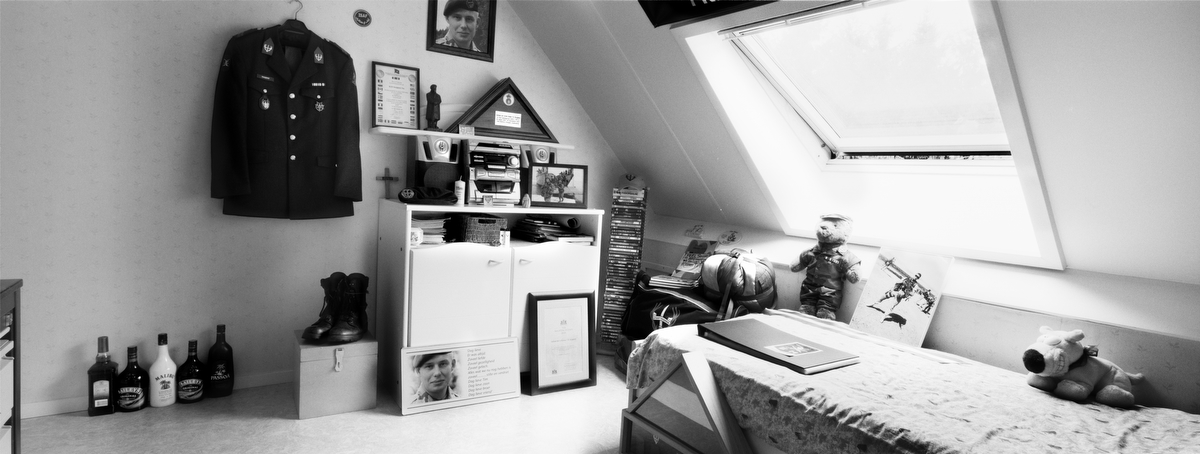 Soldier First Class Tim Hoogland, 20, was killed in an ambush in Deh Rawod, Afghanistan. He was from Vroomshoop, Overijissel, The Netherlands. His bedroom was photographed in Oct. 2010.