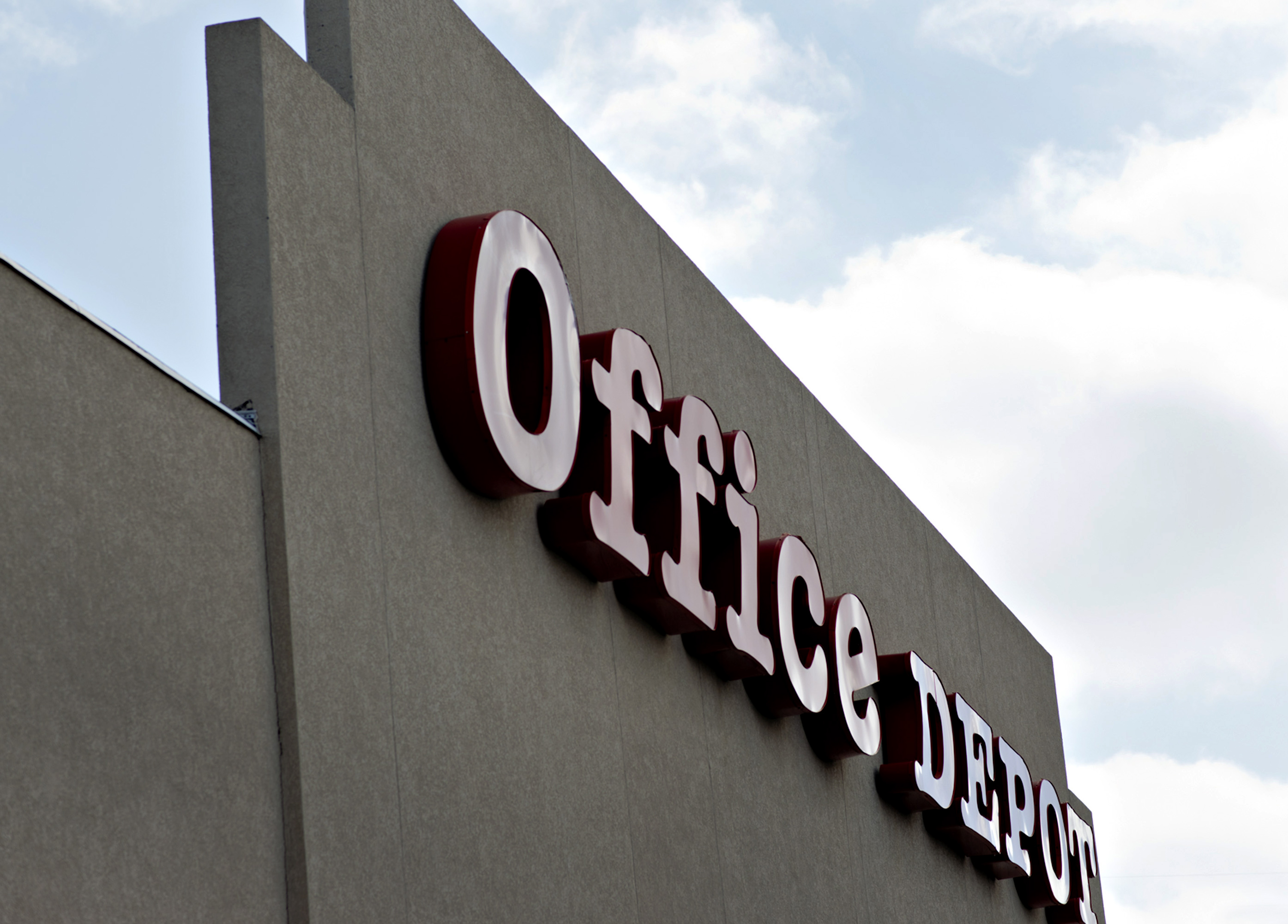 An Office Depot store stands in Peoria, Illinois, U.S., on Tuesday, Feb. 19, 2013.