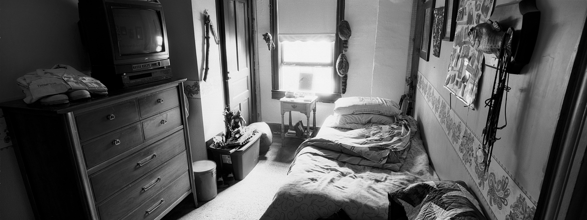 Army Pfc. Nils G. Thompson, 19, was killed Aug. 4 2005 by a sniper in Mosul, Iraq. He was from Confluence, Pennsylvania. His bedroom was photographed in Sept. 2007.