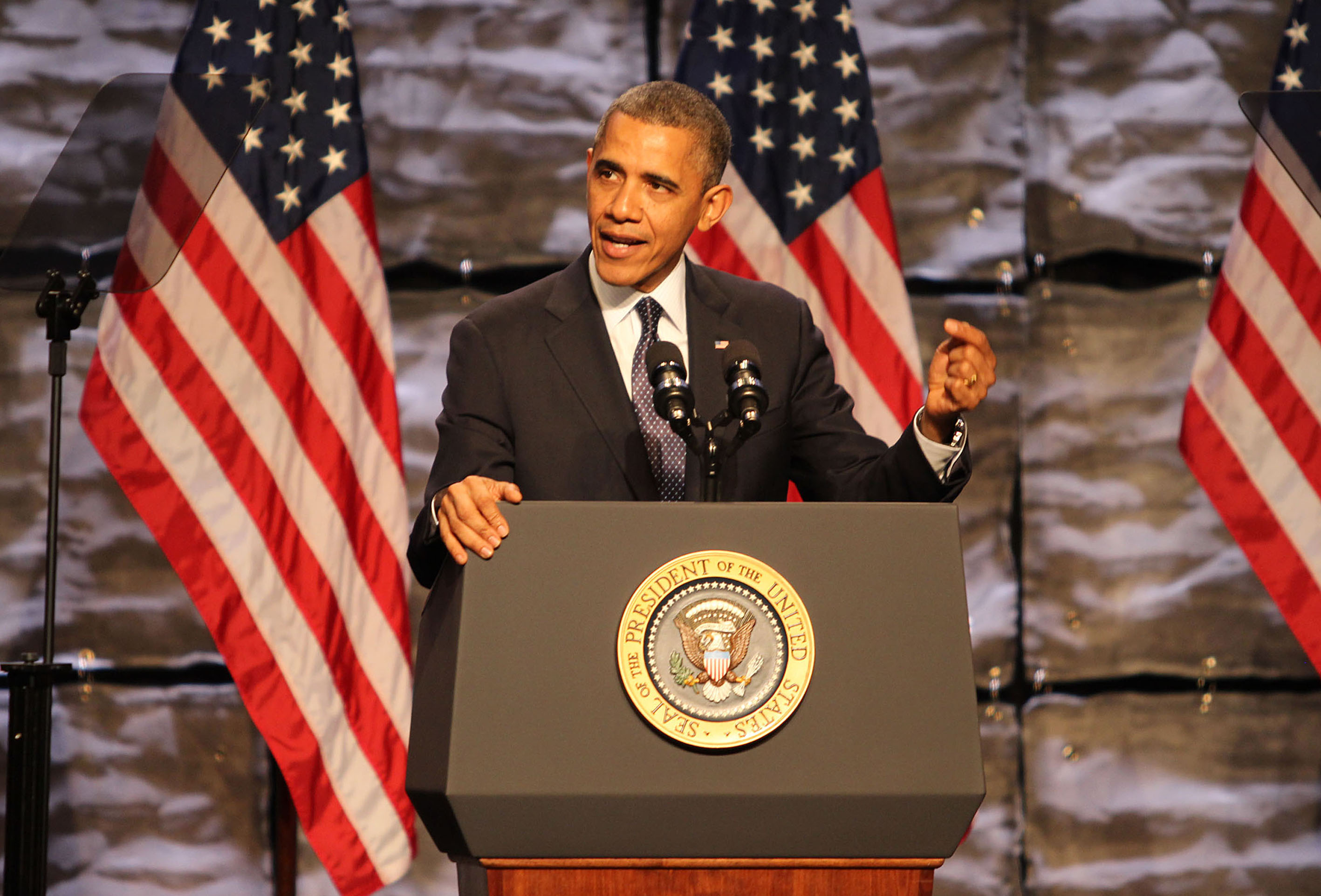 U.S. President Barack Obama speaks at the SelectUSA Investment Summit on Oct. 31, 2013, in Washington, D.C.