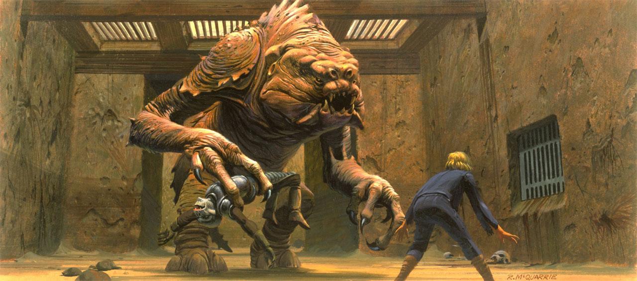 Luke Skywalker versus a rancor