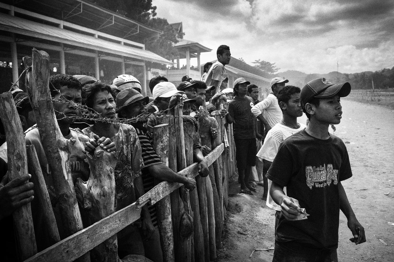 July 15, 2012. Spectators watch a race.