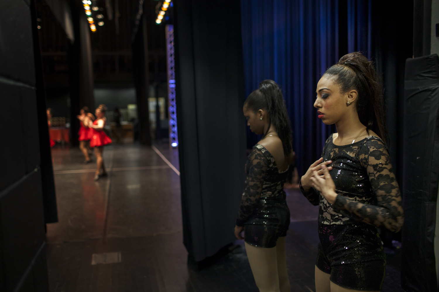 May 4th, 2013. Long Island, New York. Backstage at a dance competition with her dance school's team, Sarah takes a moment to center herself before she performs.