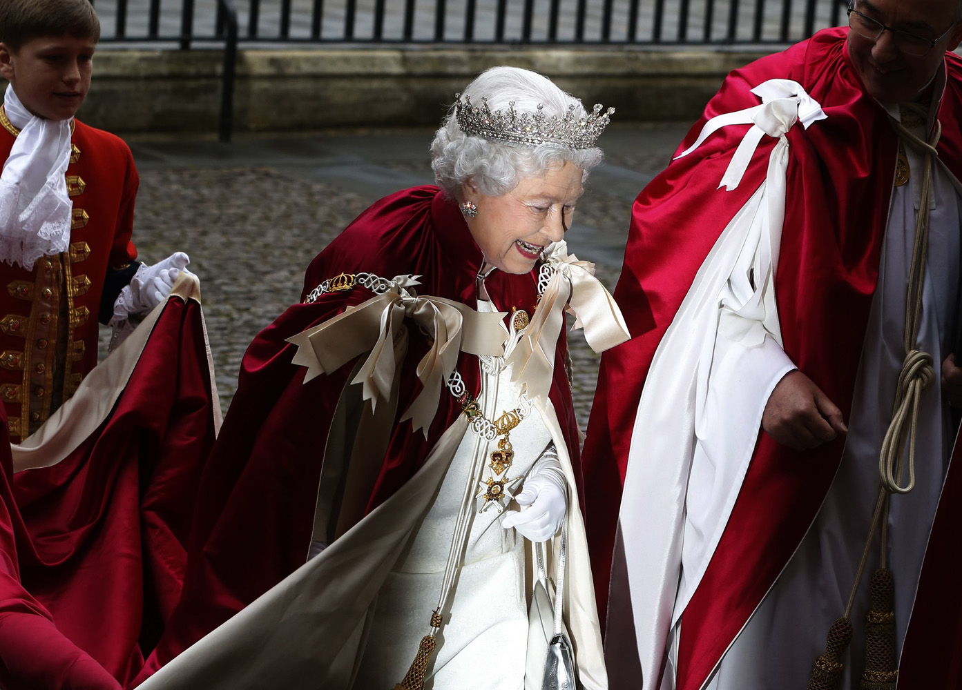 May 9 , 2014. Britain's Queen Elizabeth arrives for a Service of the Order of the Bath at Westminster Abbey in London, England.
