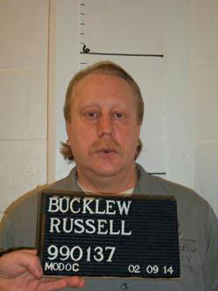 Death row inmate Russell Bucklew is shown in this Missouri Department of Corrections photo taken on Feb. 9, 2014. Missouri is set on early May 21, 2014 to execute Bucklew, a convicted killer whose lawyers have said has a rare health condition that could lead to extreme pain and suffocation during a lethal injection.