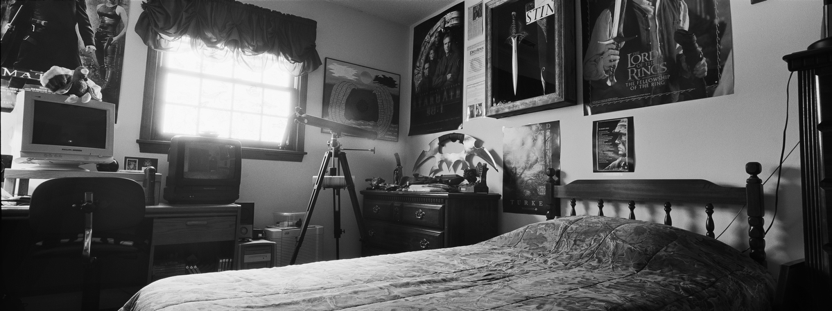 Army Pfc. Richard P. Langenbrunner, 19, committed suicide on April 17, 2007 in Rustimayah, Iraq. He was from Fort Wayne, Indiana. His bedroom was photographed in Feb. 2009.