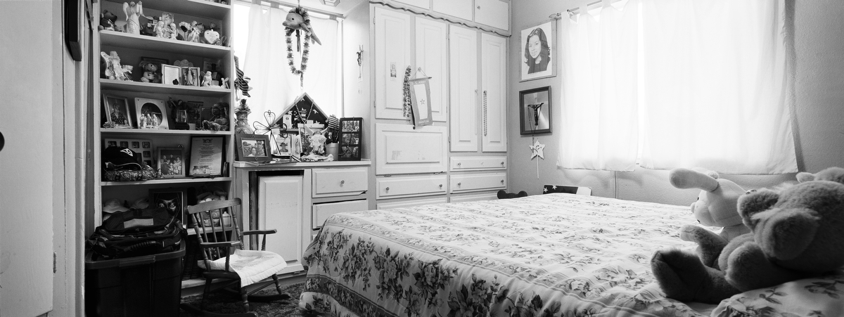 Army Pfc. Karina S. Lau, 20, died when her helicopter was shot down by insurgents on Nov. 2, 2003, in Falluja, Iraq. She was from Livingston, California. Her bedroom was photographed in Dec. 2009.