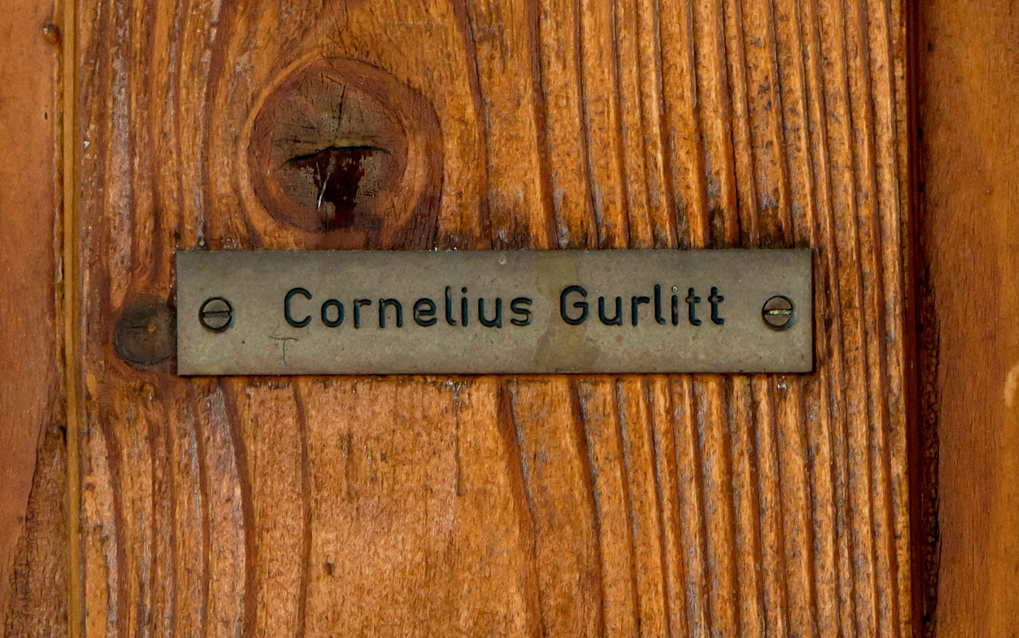 A name-plate on the door of the house of Cornelius Gurlitt which stands in the well-to-do Aigen district on November 18, 2013 in Salzburg, Austria.