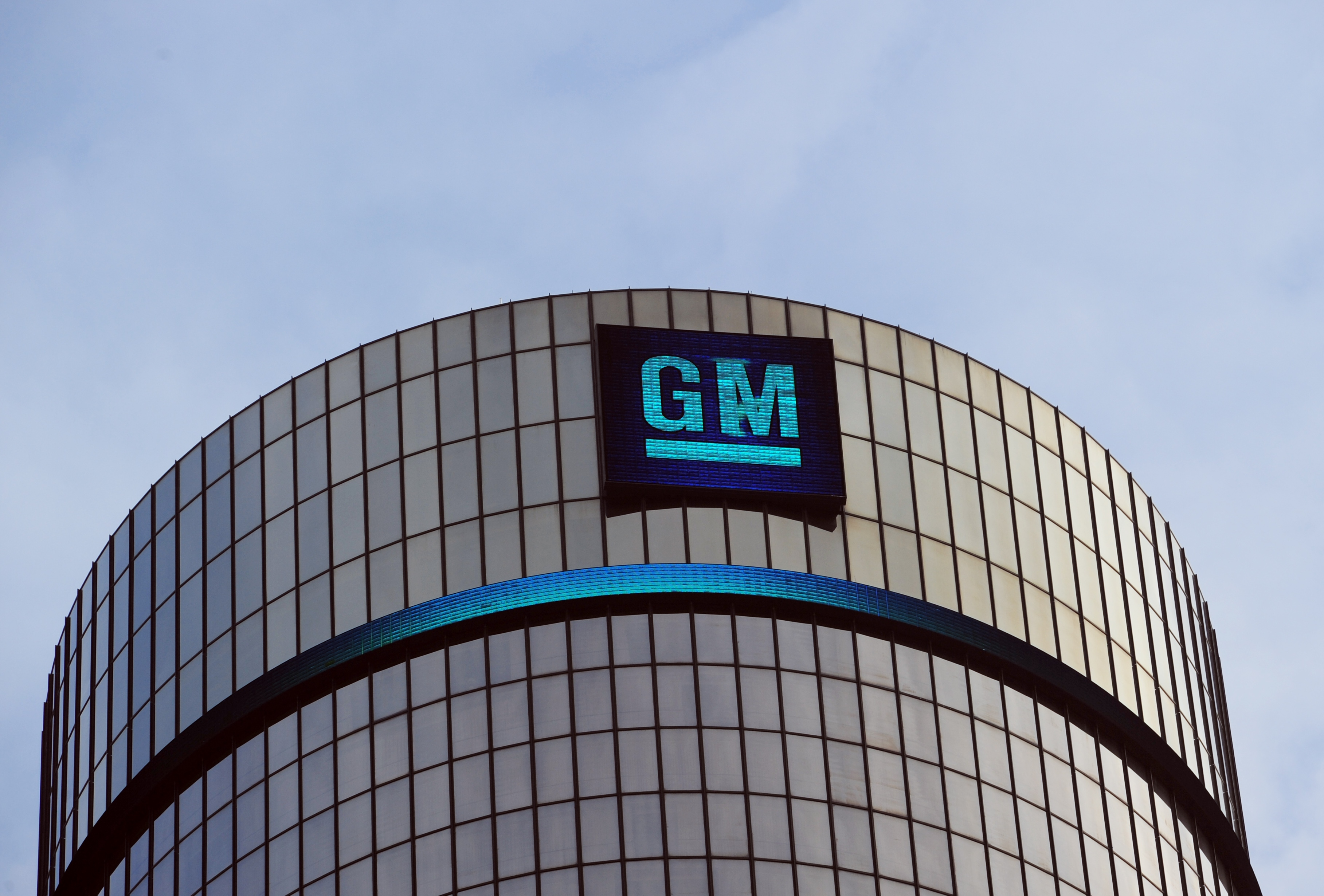 General Motors headquarters in the Renaissance Center are seen on January 14, 2014 in Detroit.
