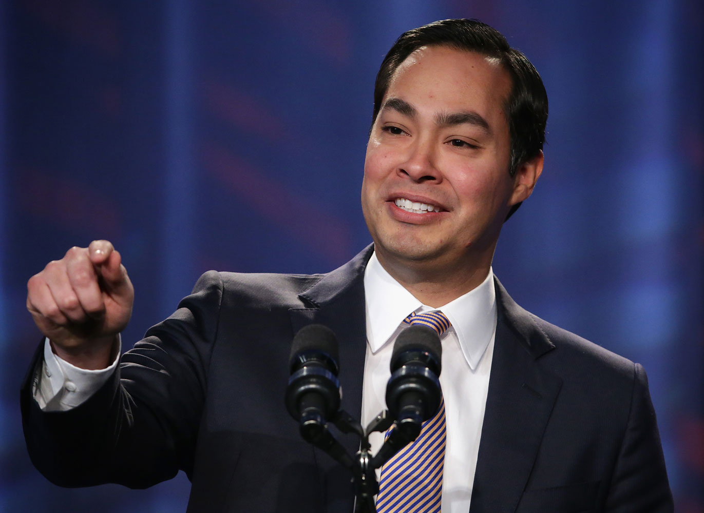 Mayor of San Antonio, Texas, Julian Castro speaks during the opening plenary session of Families USA's Health Action 2014 conference Jan. 23, 2014 in Washington, DC. Alex Wong—Getty Images