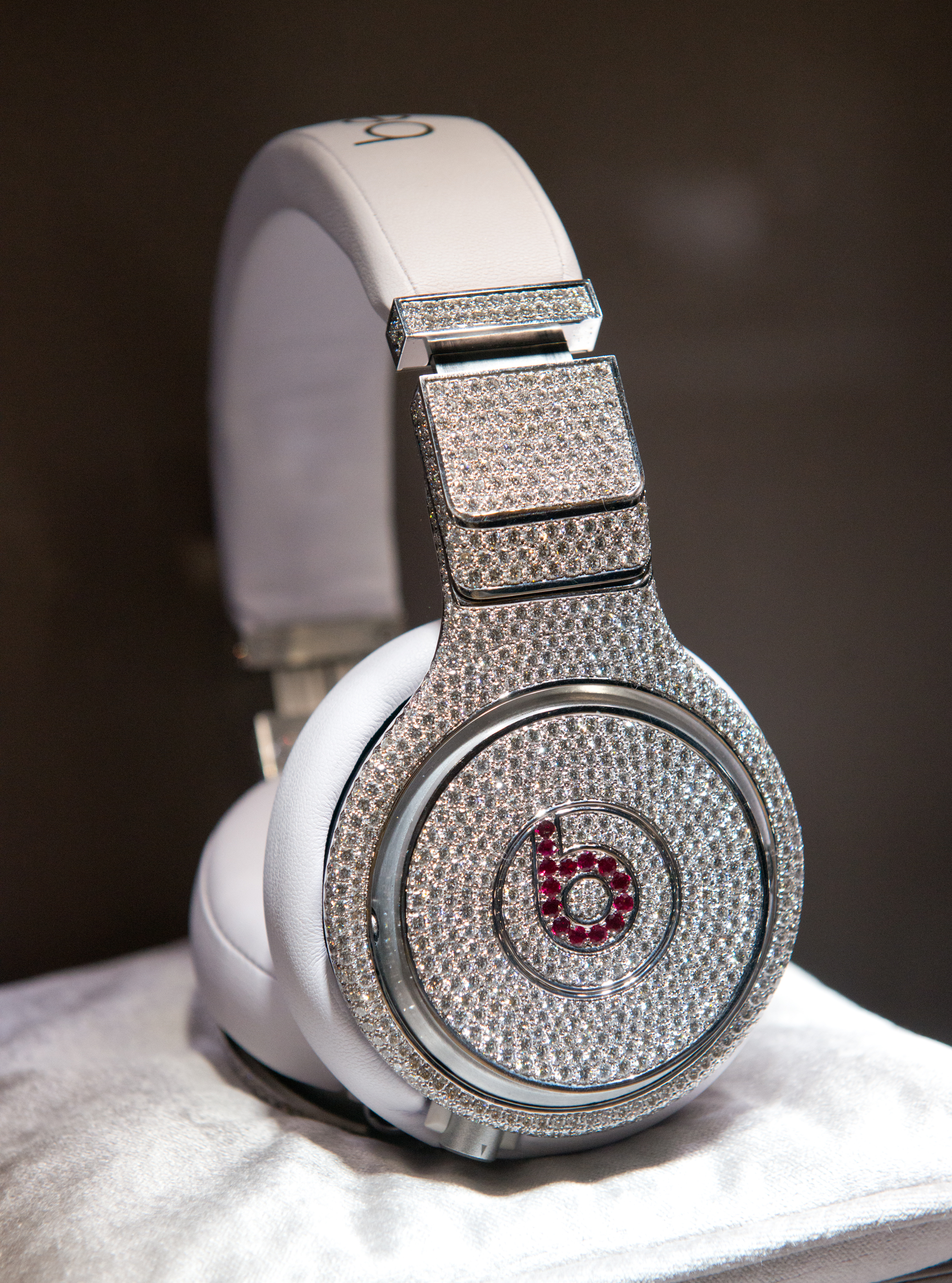 The Million Dollar Headphones by Beats by Dr. Dre &  Graff Diamonds, displayed on January 31, 2014 in New York City.