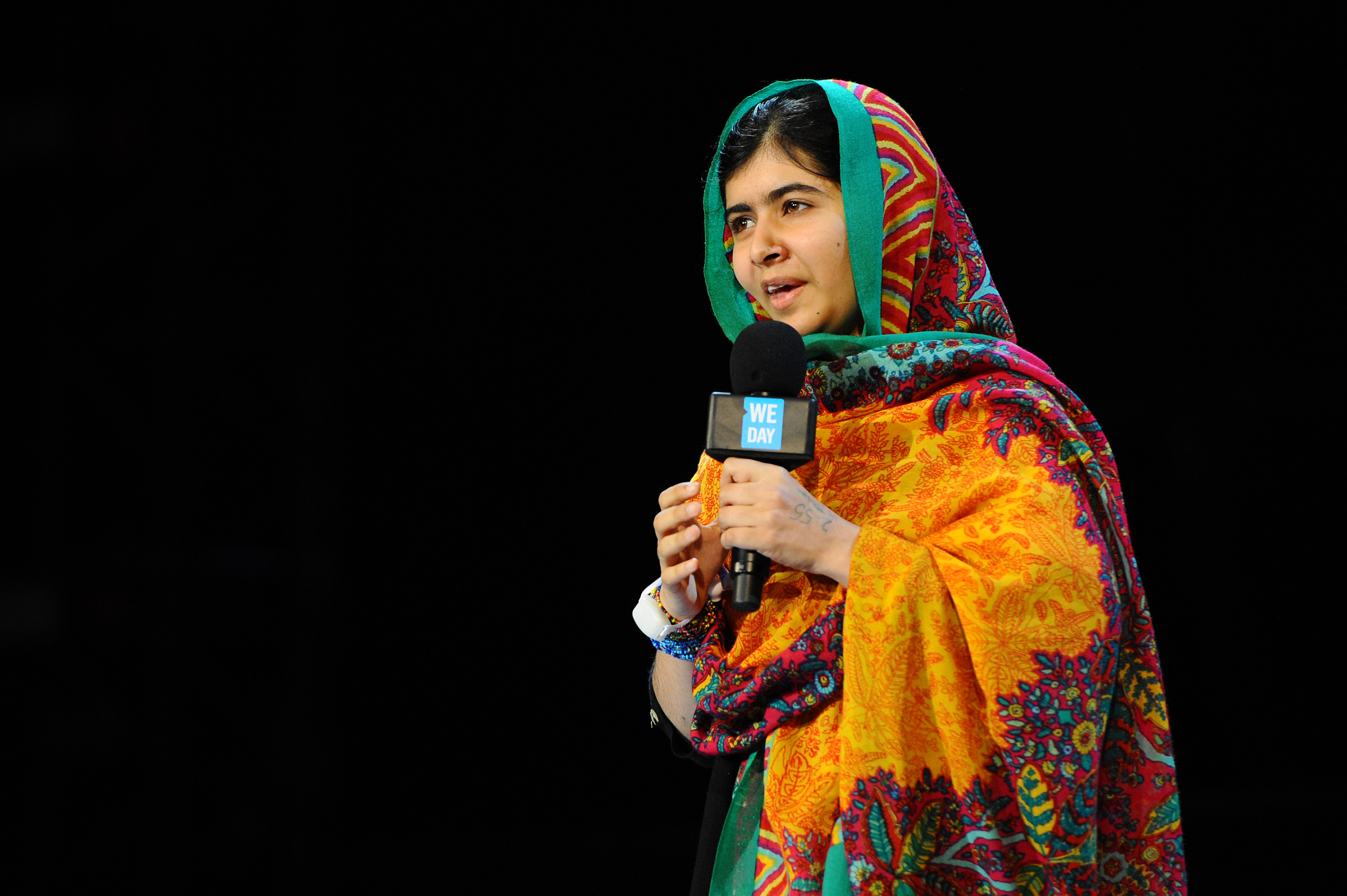 Malala Yousafzai attends as Free The Children hosts their debut UK global youth empowerment event, We Day at Wembley Arena on March 7, 2014 in London, England.