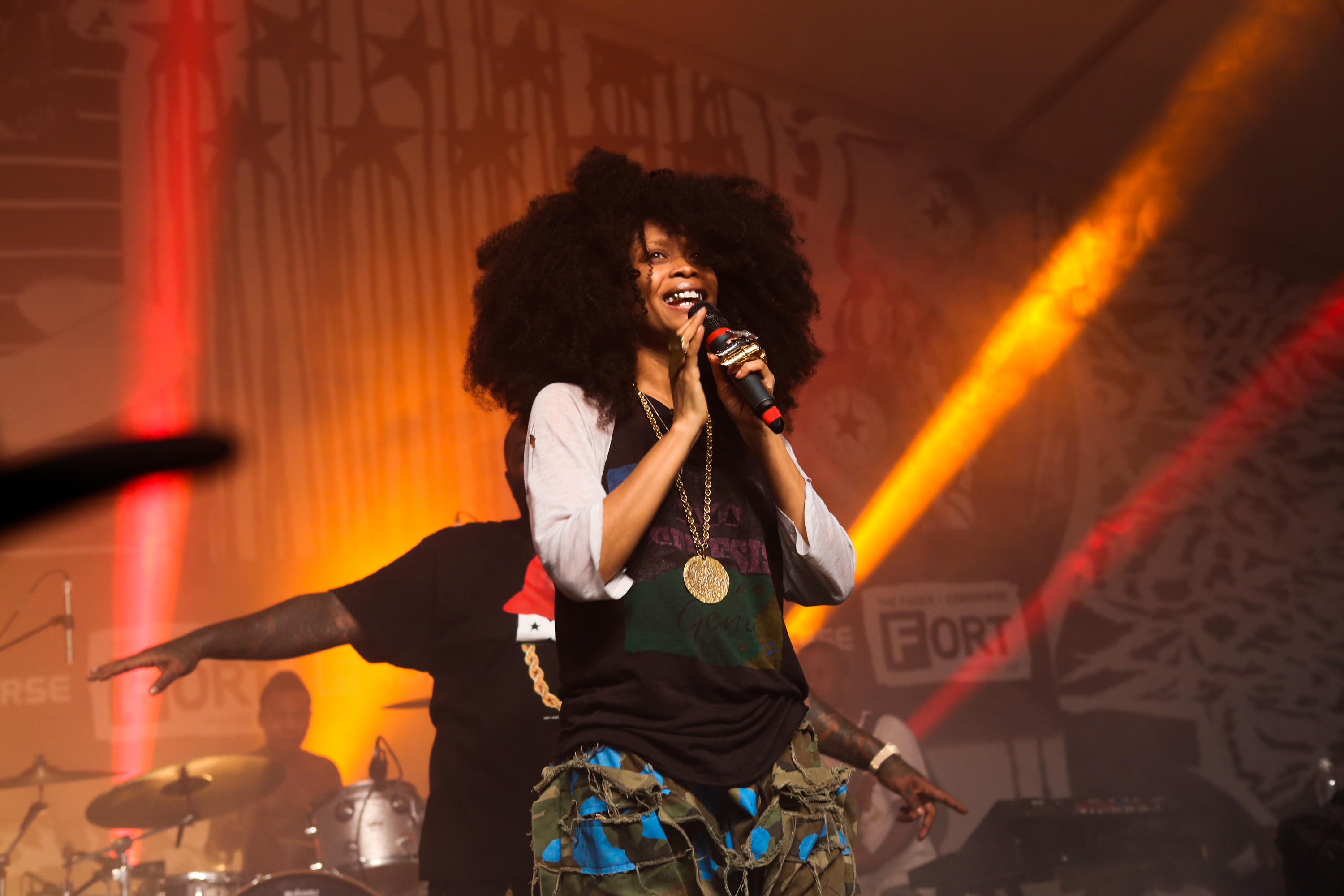 Erykah Badu performs onstage at The Fader Fort presented by Converse during SXSW on March 15, 2014 in Austin, Texas.