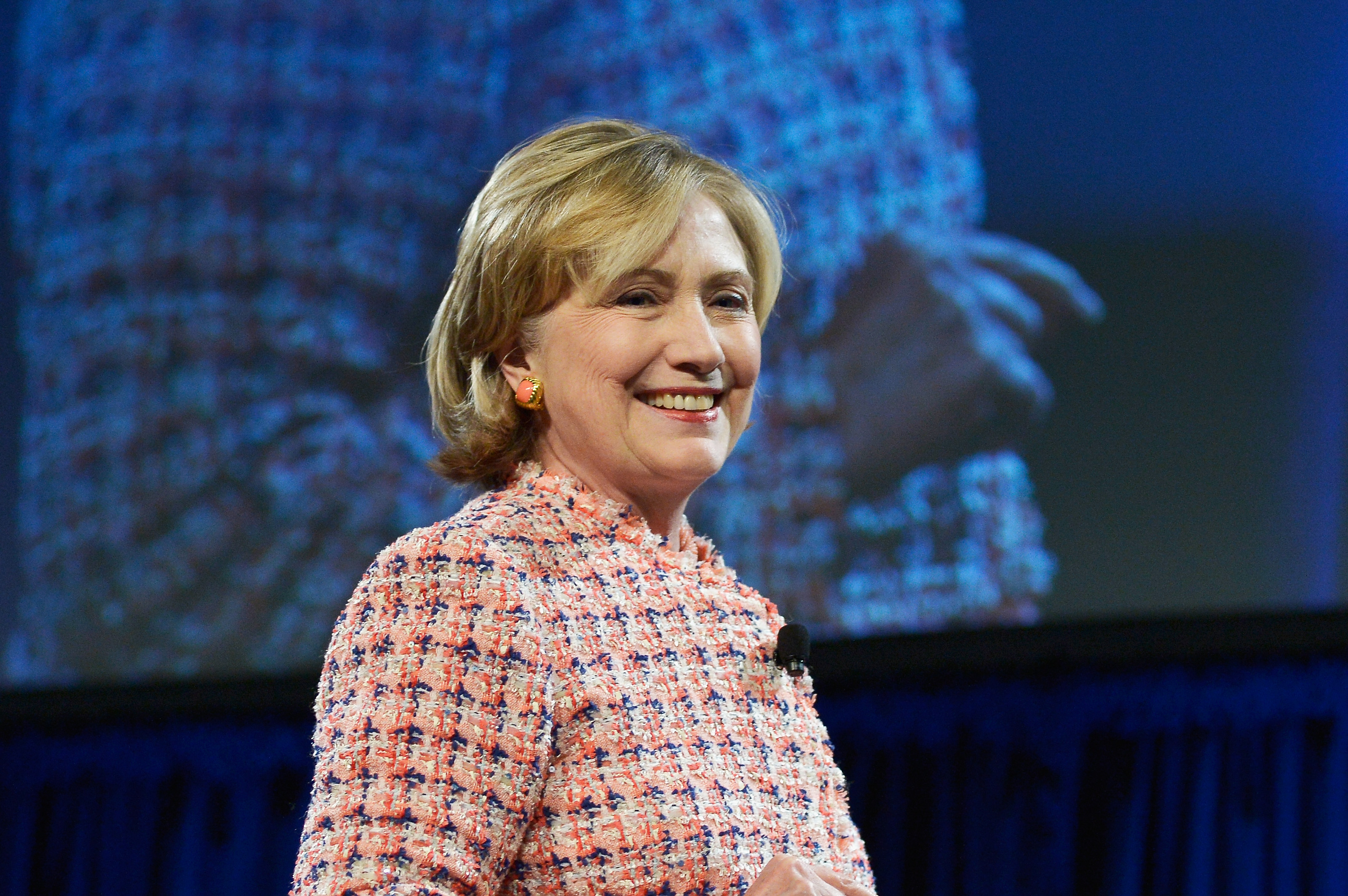 Hillary Clinton delivers the Keynote Address at the 35th Annual Simmons Leadership Conference