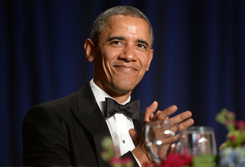 President Barack Obama at the annual White House Correspondent's Association Gala at the Washington Hilton hotel, May 3, 2014 in Washington, D.C.