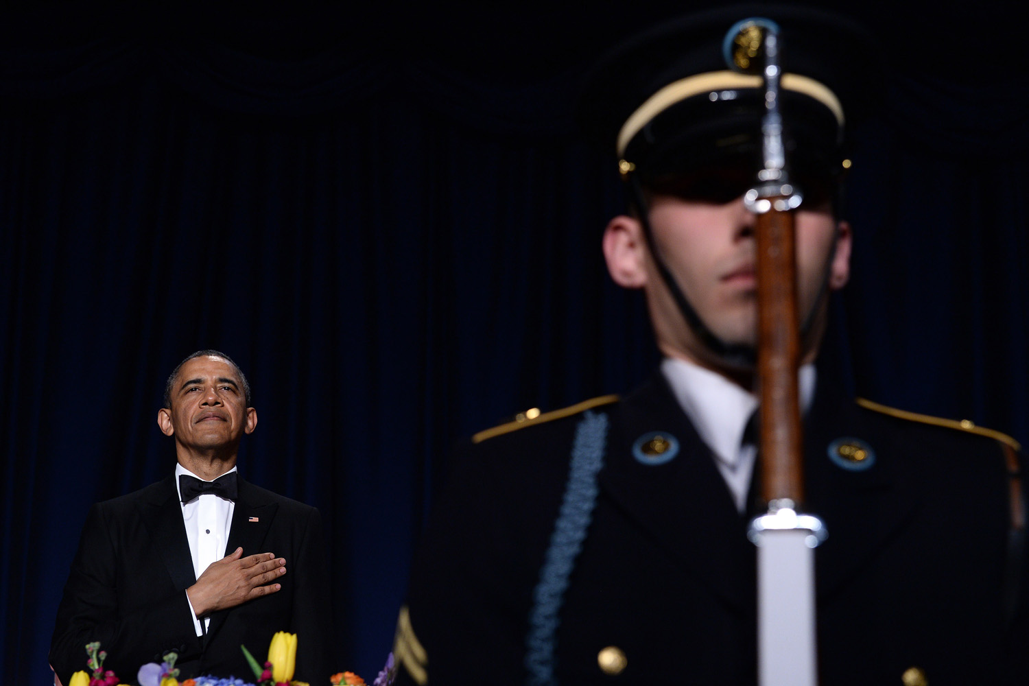 May 3, 2014. US President Barack Obama attends the White House Correspondents Association Dinner in Washington, DC.