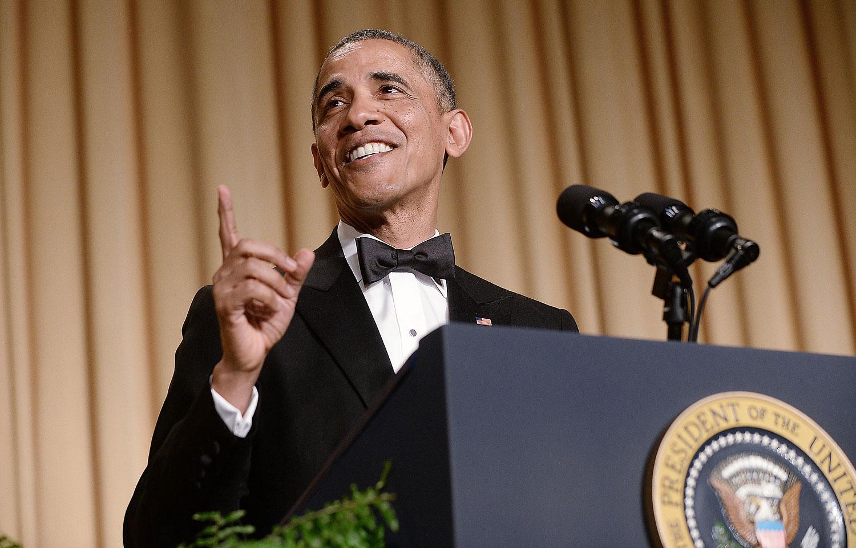 President Obama speaks at the annual White House Correspondent's Association Gala at the Washington Hilton hotel May 3, 2014 in Washington, DC.