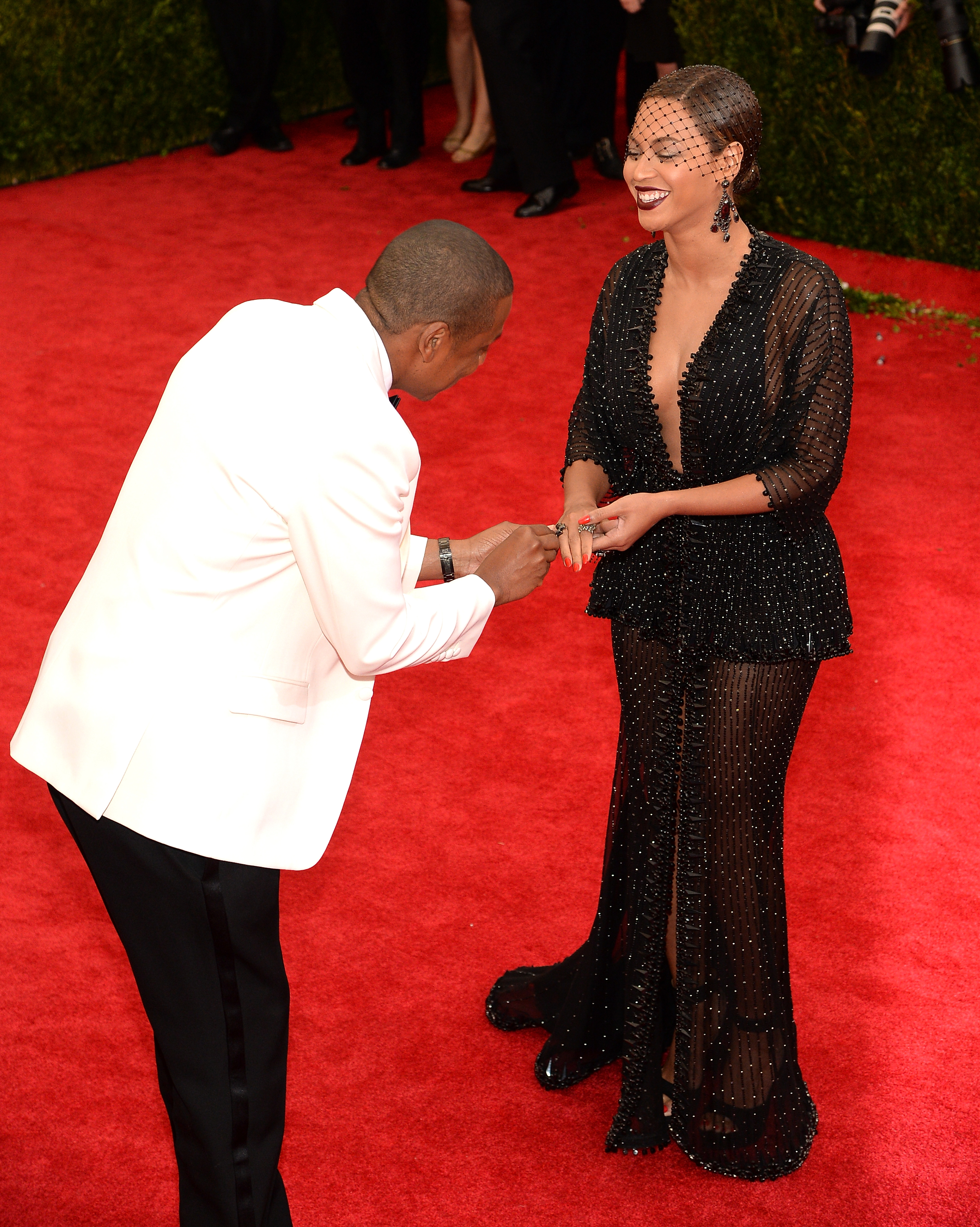 Jay Z and Beyoncé attend the 'Charles James: Beyond Fashion' Costume Institute Gala at the Metropolitan Museum of Art on May 5, 2014 in New York City.