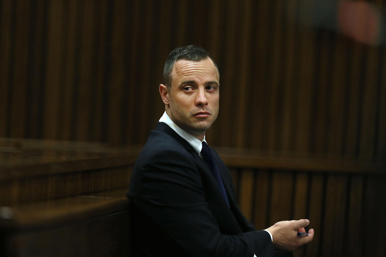 Oscar Pistorius in the Pretoria High Court on May 6, 2014, in Pretoria, South Africa.