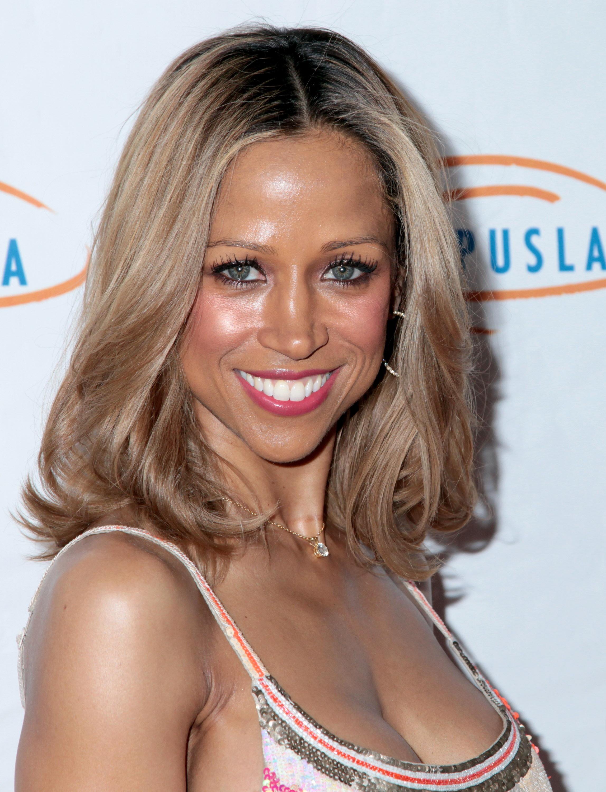 Actress Stacey Dash arriving at the14th Annual Lupus LA Orange Ball at Regent Beverly Wilshire Hotel on May 8, 2014 in Beverly Hills, California.