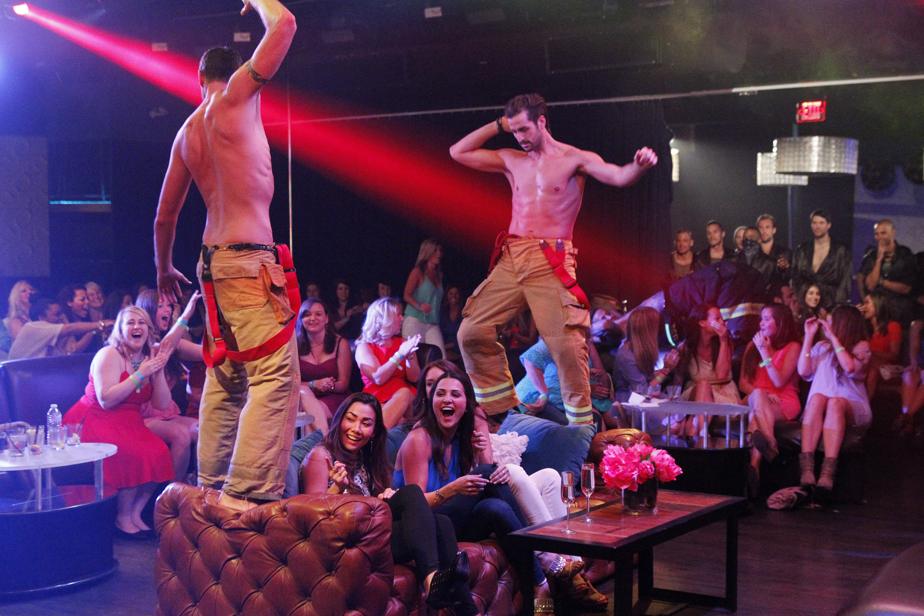 Fourteen men join Andi at a hip Hollywood nightclub, but they are in for a big surprise when they are met by members of a popular male exotic revue.
