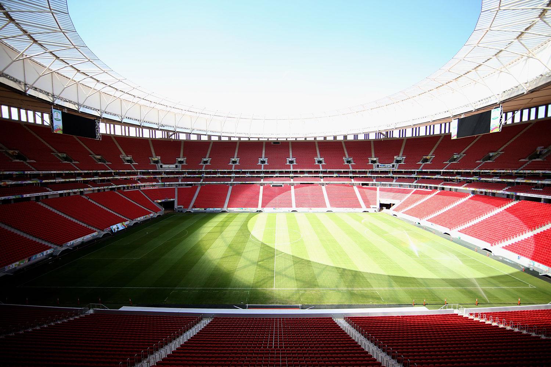 The Estadio Mane Garrincha stadium in Brasilia, Brazil.