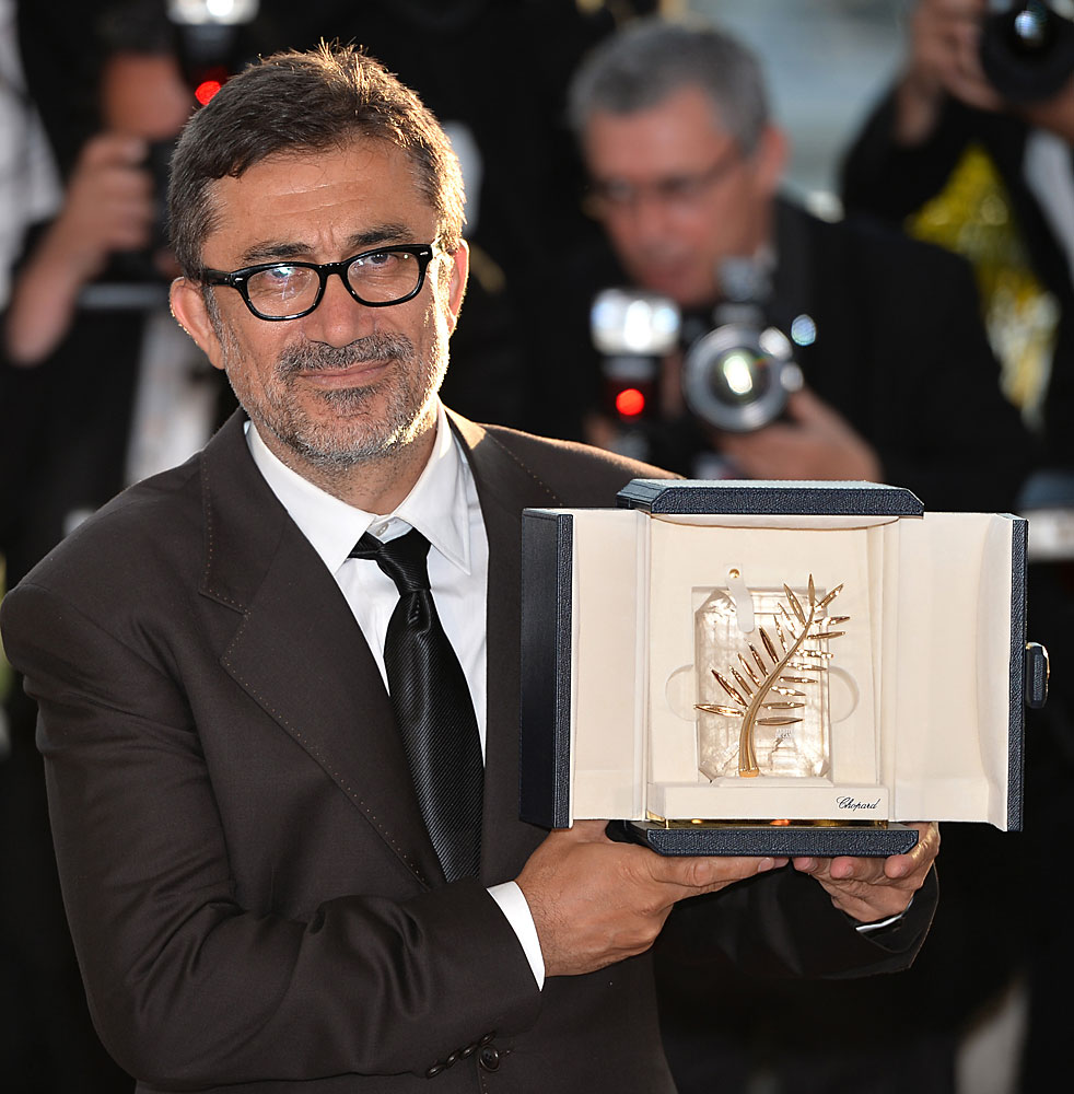 Nuri Bilge Ceylan wins the Palme d'Or at the 67th Cannes Film Festival on May 24, 2014.