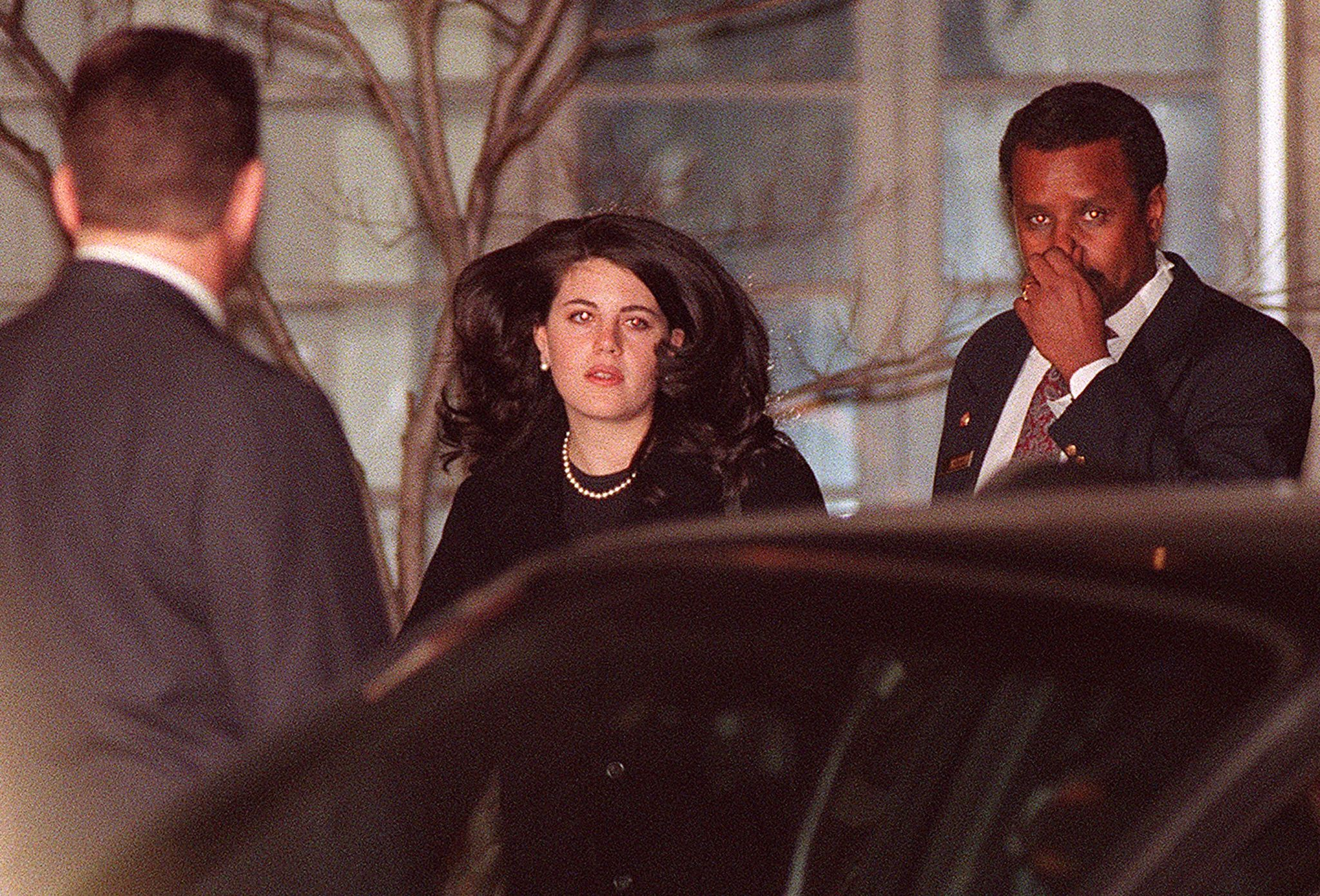 Monica Lewinsky in Washington DC just after the scandal broke in 1998.