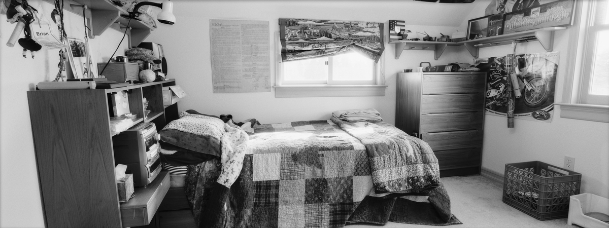 Army Lt. Brian N. Bradshaw, 24, was killed in an IED attack on June 25, 2009 in Kheyl, Afghanistan. He was from Steilacoom, Washington. His bedroom was photographed in Feb. 2010.