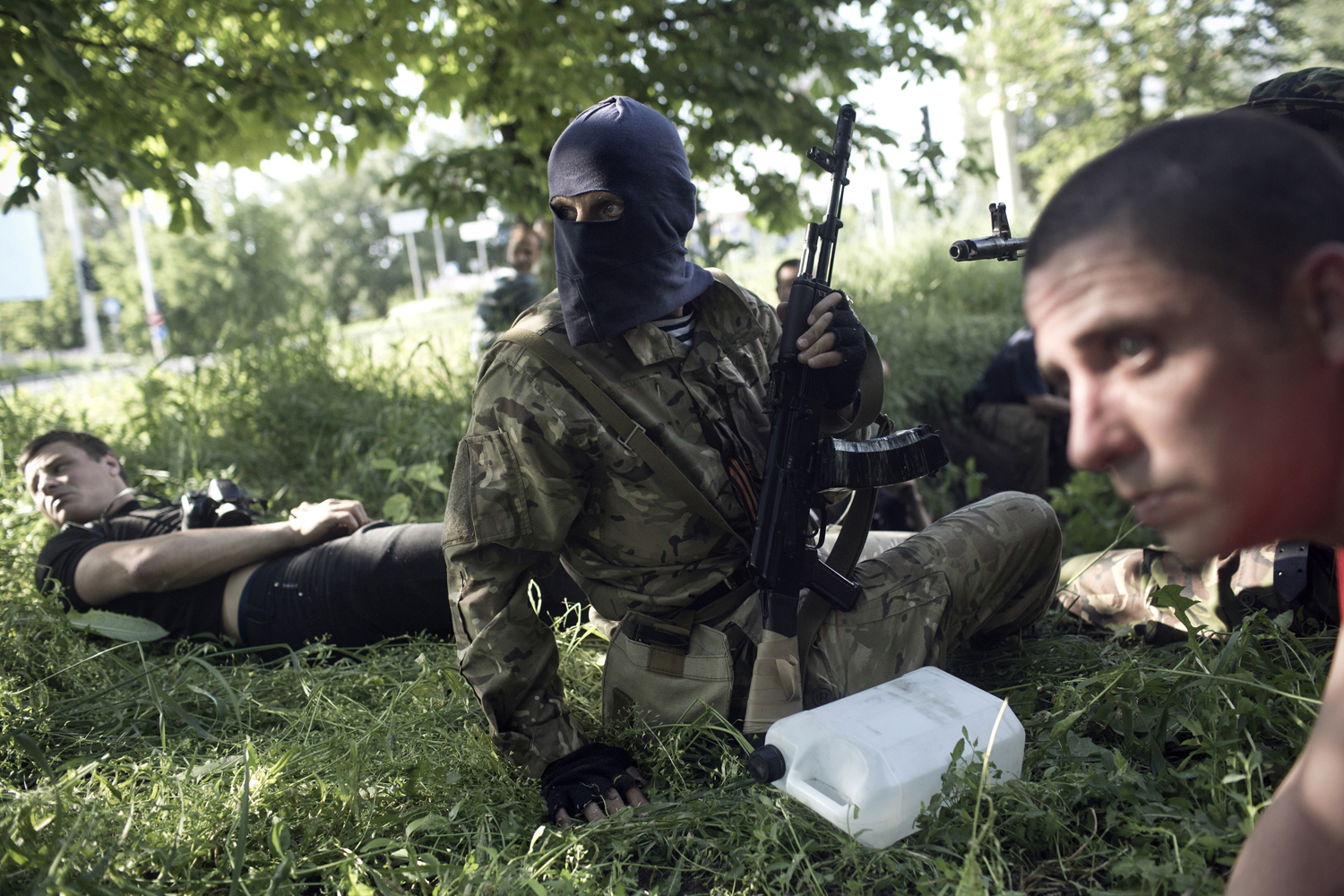 May 24, 2014. Members of various Pro-Russian militia groups battle Ukrainian forces after members of the Donbass People's Republic declared martial law and tried to take over the Donetsk airport.