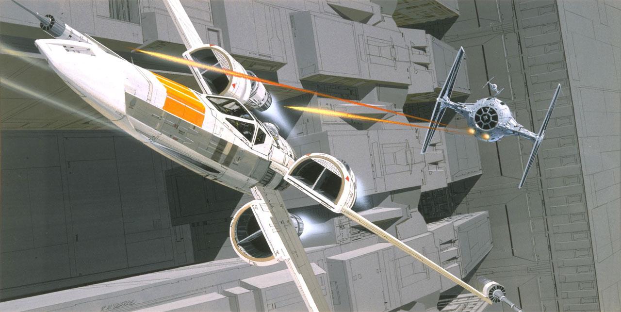 An X-Wing versus TIE fighters