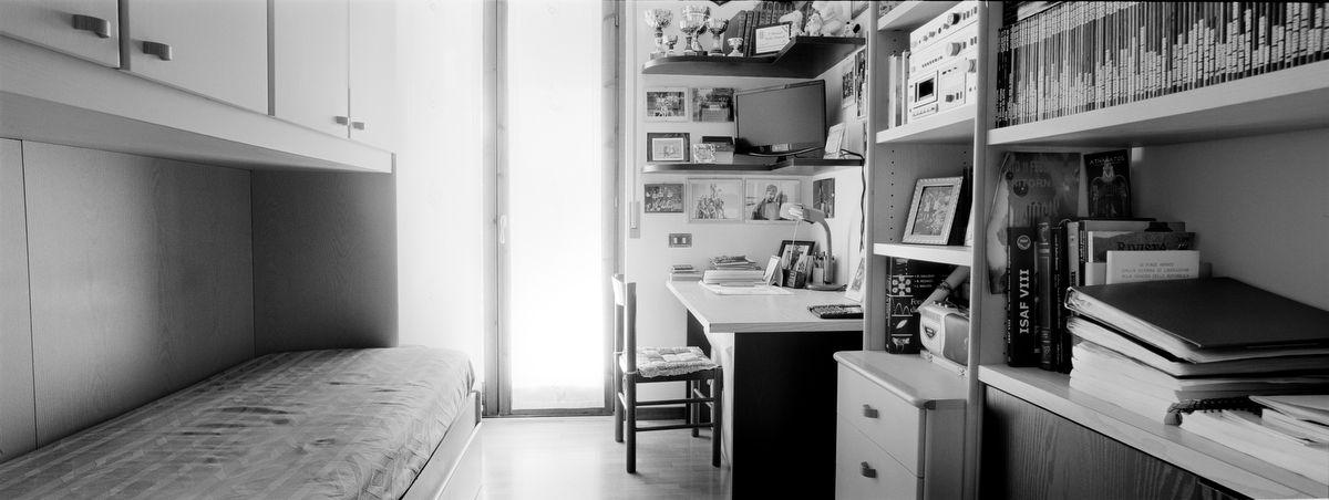 Captain Manuel Fiorito, 27, was killed by a roadside bomb on May 5, 2006 in Musa Valley, Afghanistan. He was from Verona, Veneto province, Italy. His bedroom was photographed on Aug. 19, 2011.