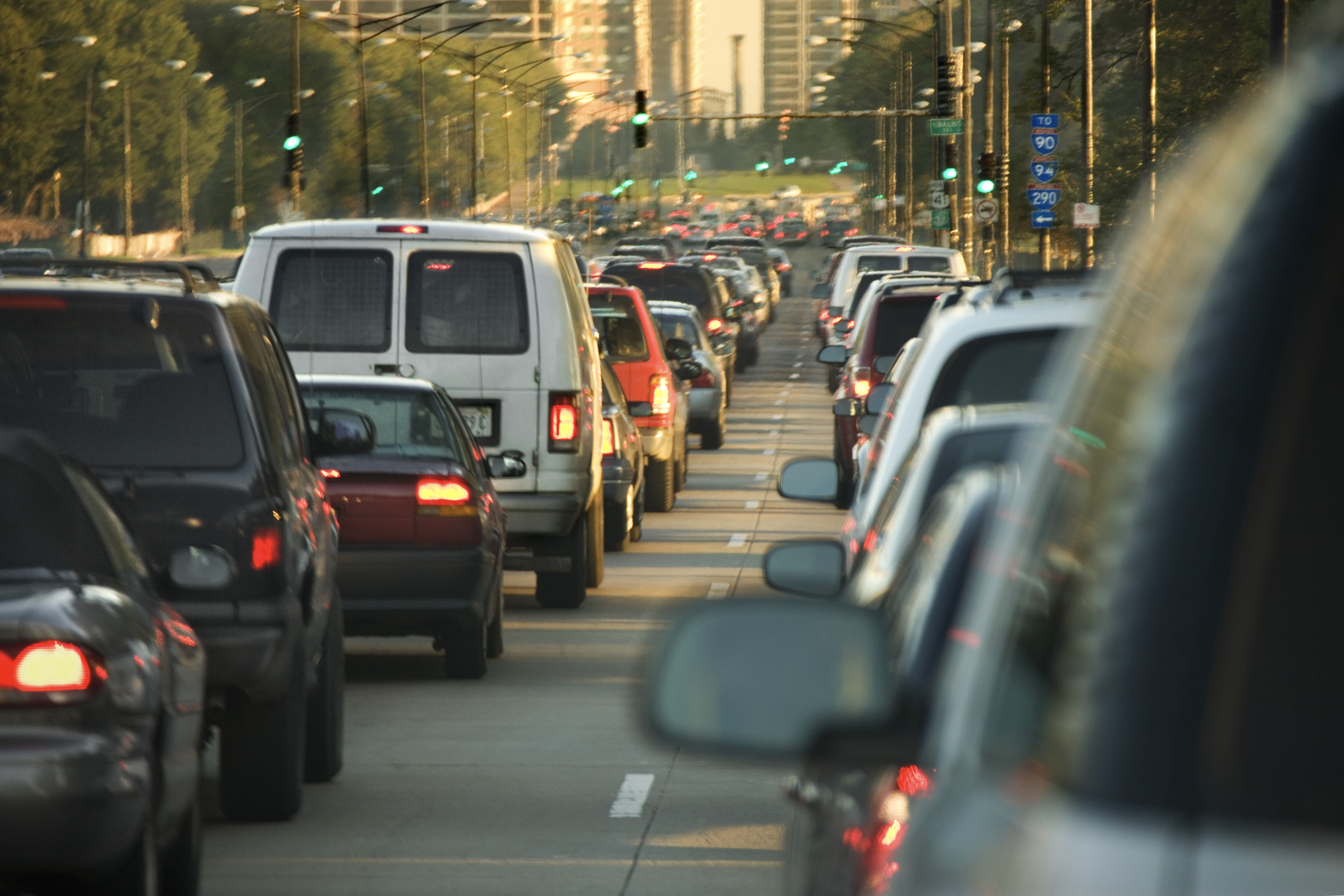 Traffic jam in downtown Chicago