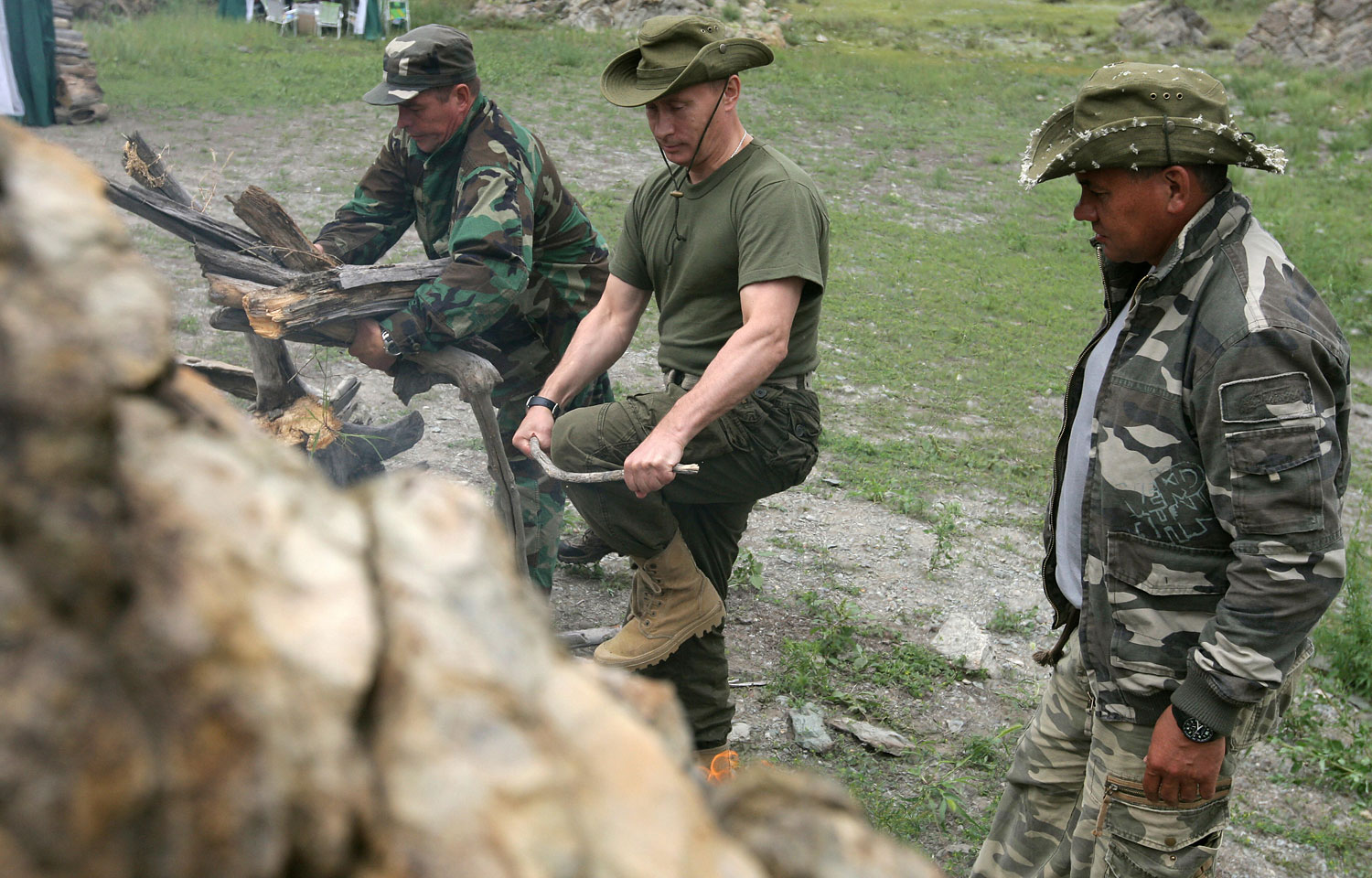 Putin's choice of a rustic vacation resonated with many Russians, who tend to be suspicious and resentful of the moneyed élite, Aug. 3, 2009.