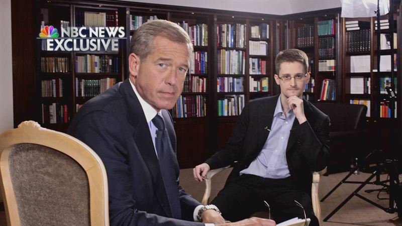 Brian Williams and Edward Snowden
